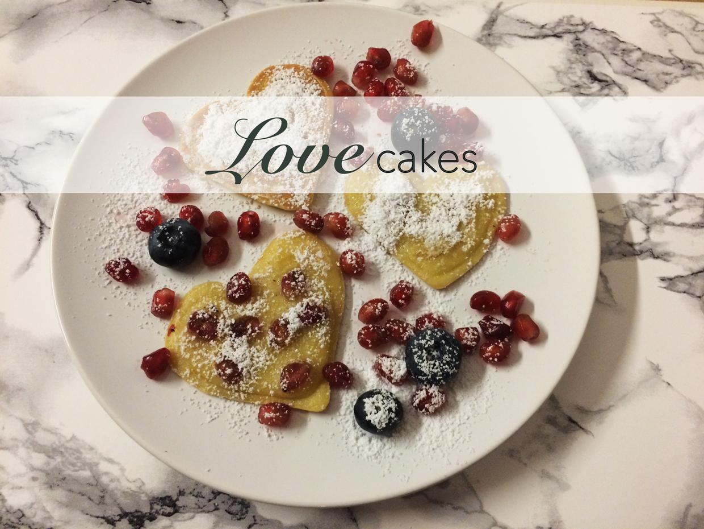 Lovecakes, Mini Herz Pfannkuchen
