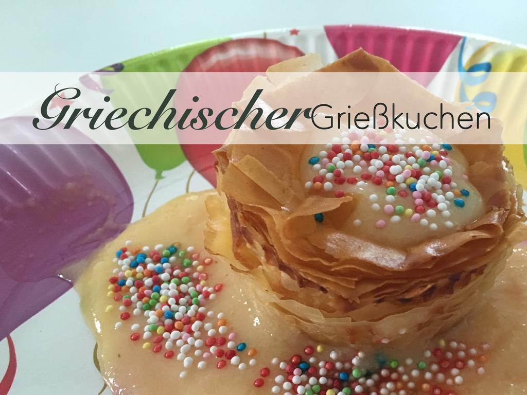 Galaktoboureko Griechischer Grießpudding Pudding Grieß Halva Filoteig Griechenland Süßsspeise