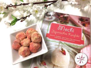 Japanische Mochis nach Haedecke Rezept mi Pfeilwurzelmehl und frischer Himbeere