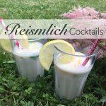 Reismilch Cocktail mit Sirup. Alkoholfrei.