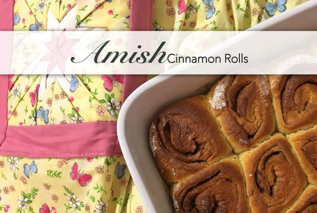 Echte Amish Cinnamon Rolls nach einem Rezept aus Lancaster Country. Zu deutsch Zimtschnecken.