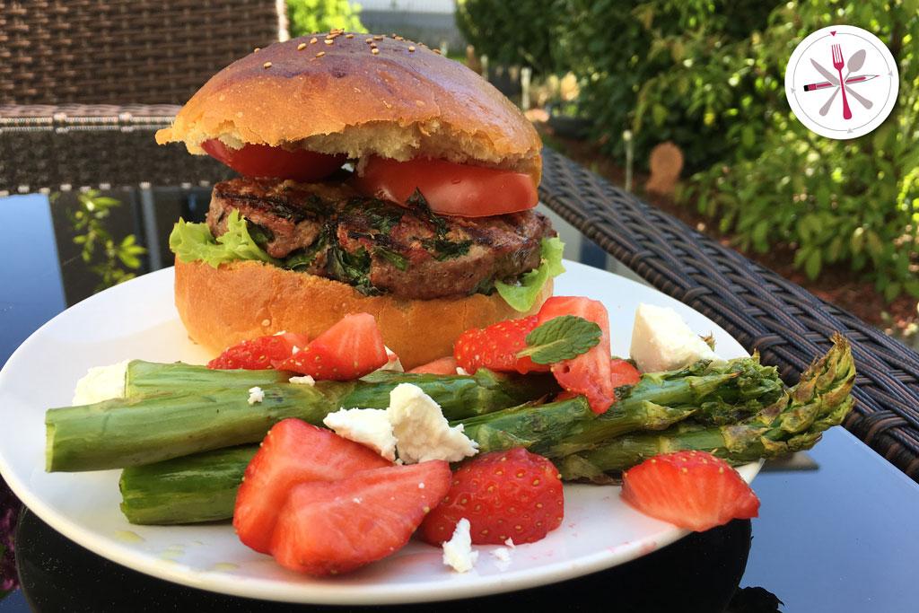 Bärlauchburger aus Rindfleisch