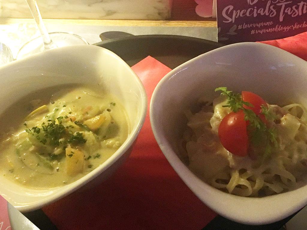 Blogger Specials Tasting in Pasing zum Vapianomenü Mai und Juni mit Zoodles