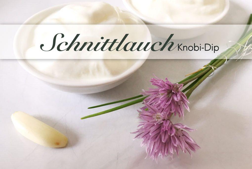 Schnittlauch Joghurt und Blüten