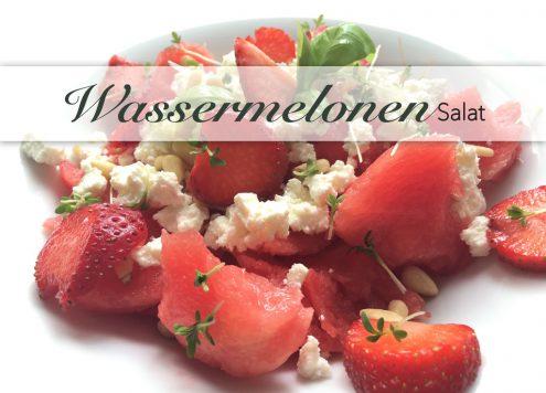 Wassermleonensalat mit Kresse und Pinienkernen