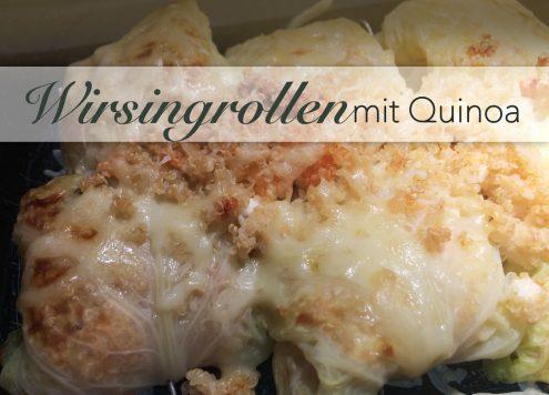 Sommerliche Wirsingrollen mit Feta Tomaten Quinoafüllung
