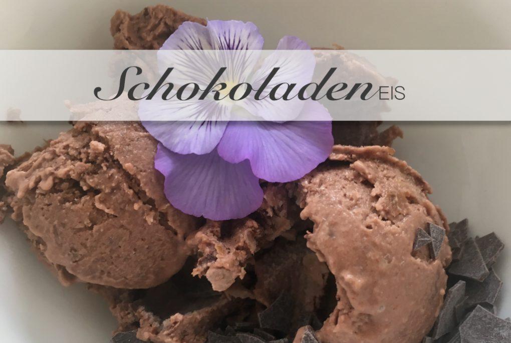 Schokoladeneiscreme auch vegan mit oder ohne Eismaschine