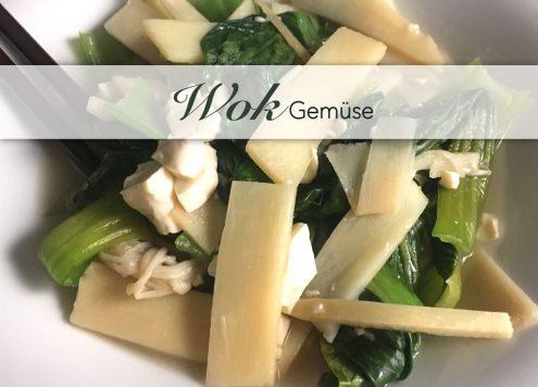 Pak Choi asiatisches Wokgemüse mit Sauce