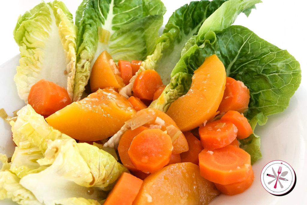 Adventsvorspeise Pfirsich-Möhren-Salat - Mrsemilyshore