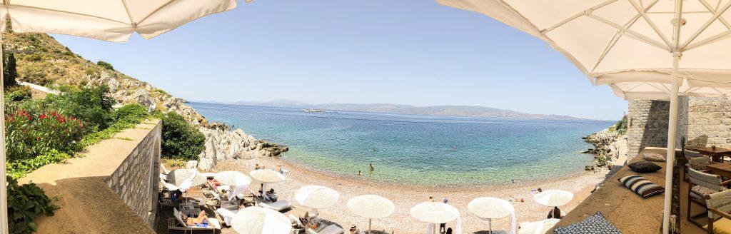 Castello in Hydra, Griechenland. Panorama