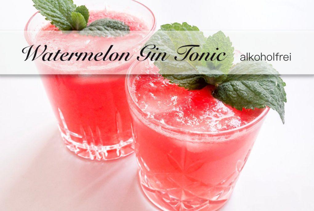Alkoholfreie Gin als Watermelon Gin Tonic