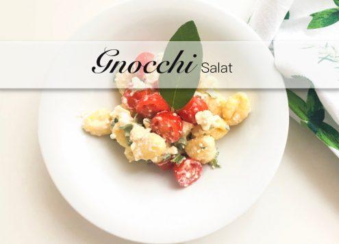 Gnocchi Salat mit Feta und Salbei