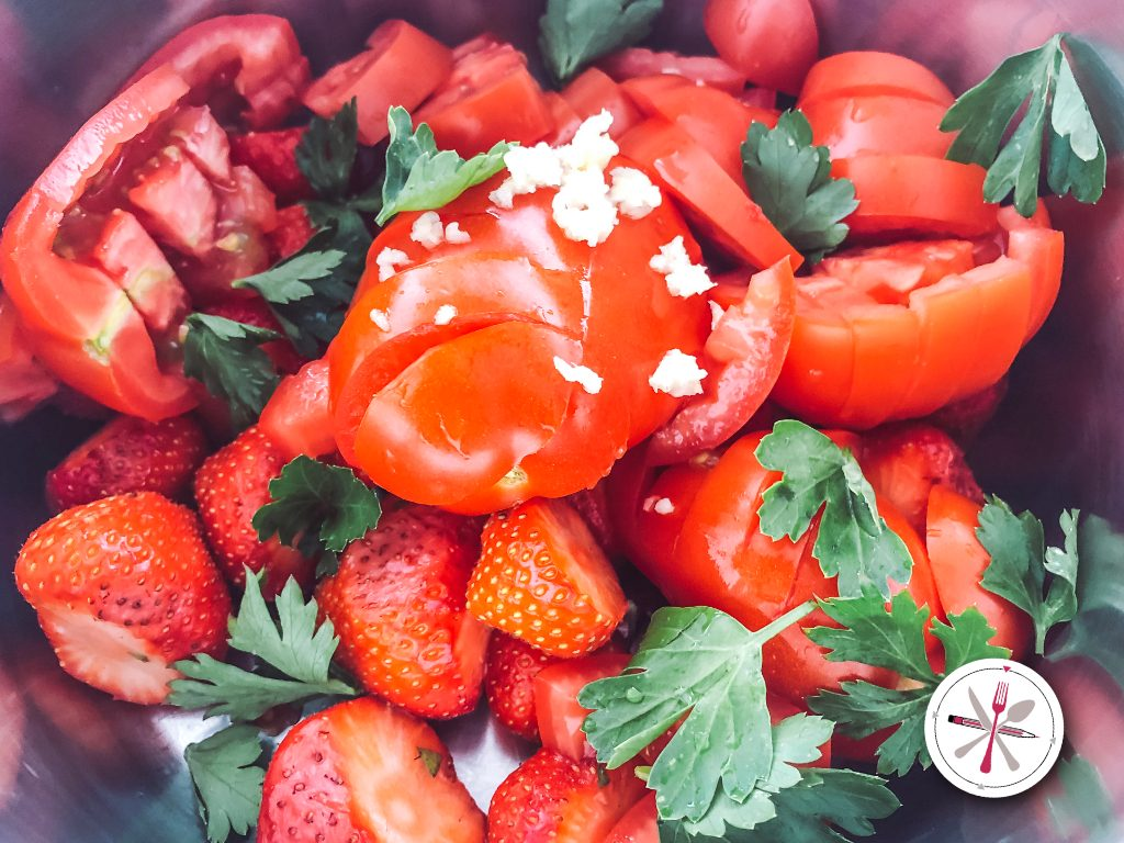 Erdbeer Tomaten Gazpacho
