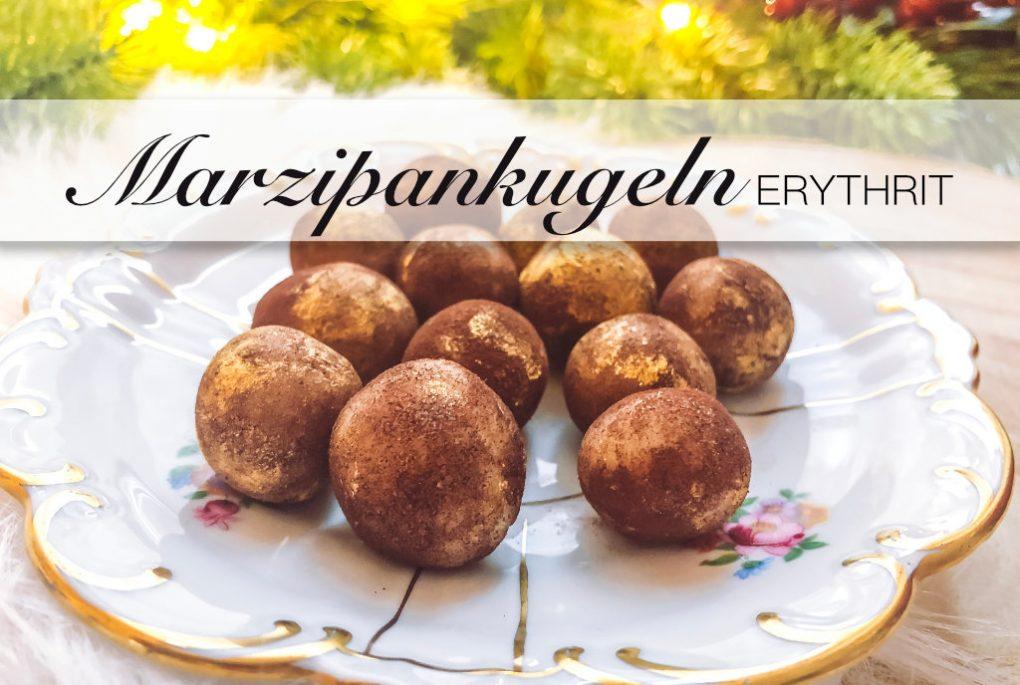 Marzipankugeln ohne Zucker aber mit Erythrit